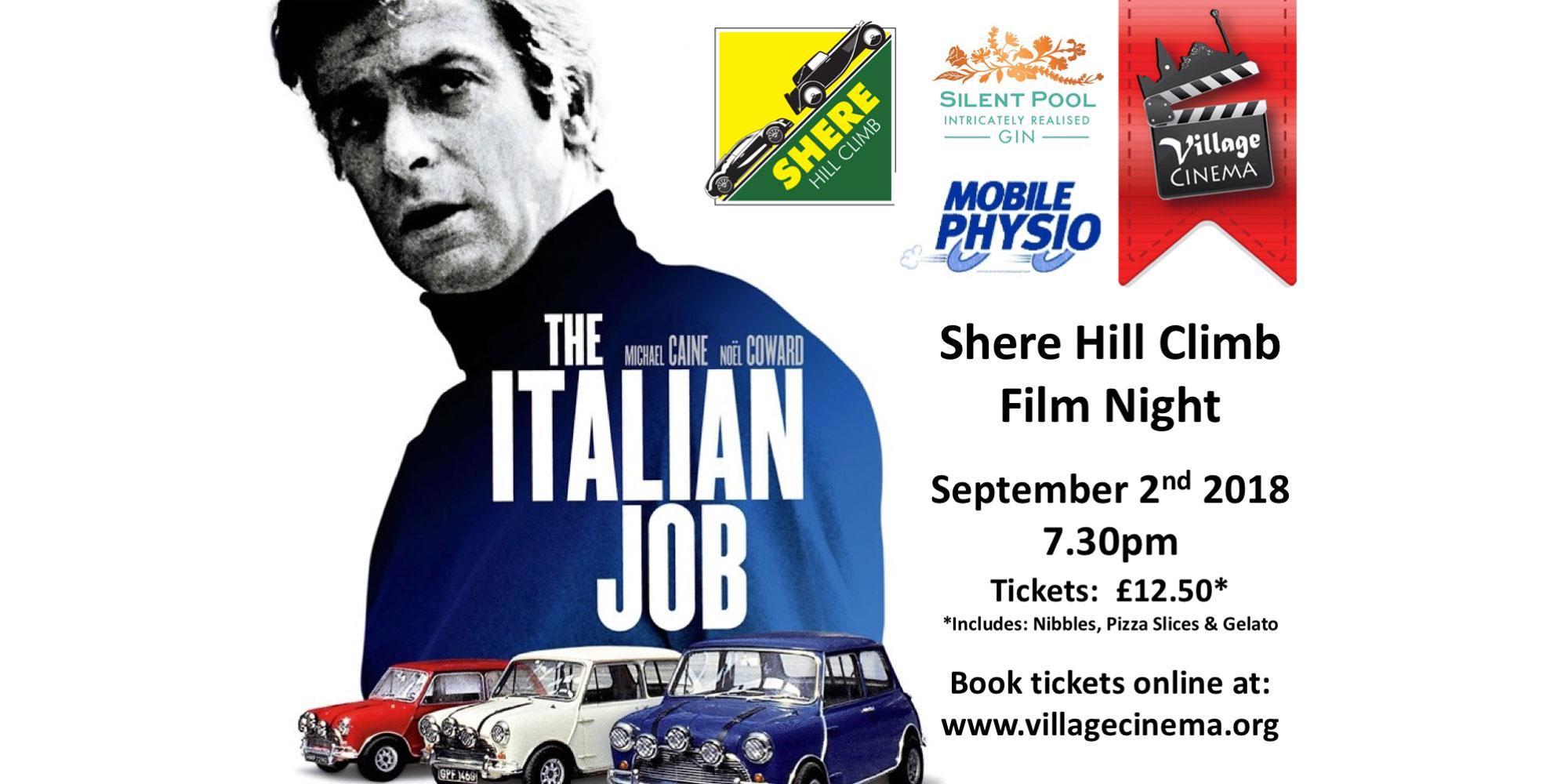 Shere Hill Climb Film Night - The Italian Job